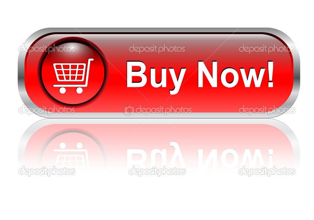 Shopping cart, buy icon button, red glossy with shadow, vector  — Stock Vector #2143957