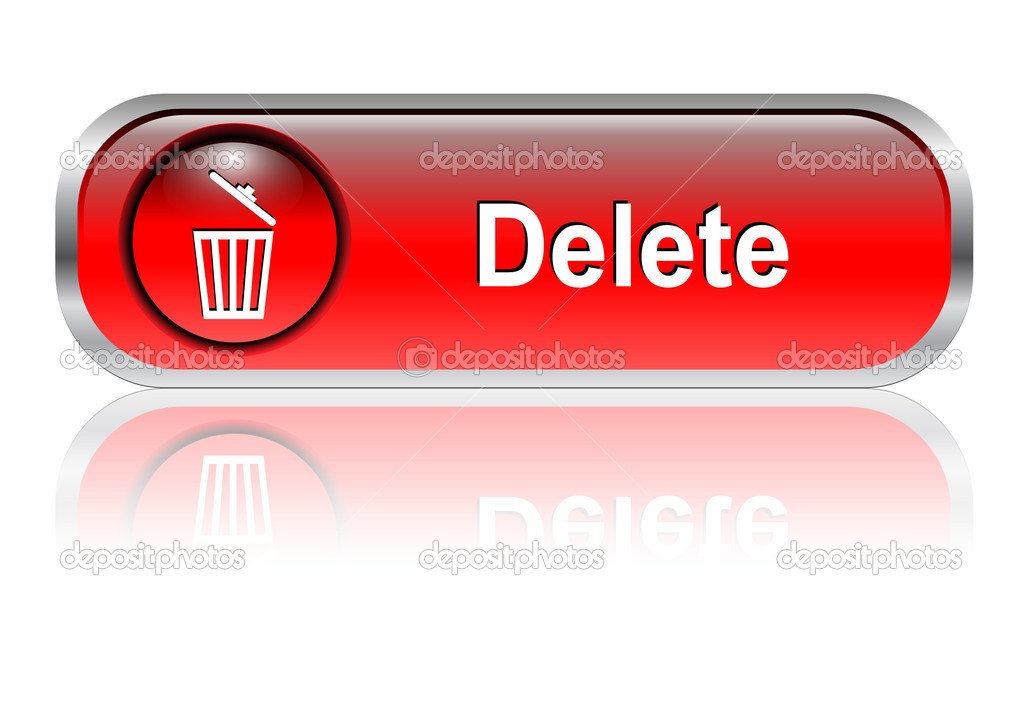 Delete icon button stock illustration