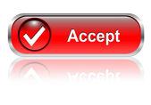 Accept icon, button — Stock Vector