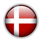 Denmark flag button, vector — Stock Vector