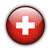 Suisse flag button, vector — Stock Vector