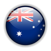 Australia flag button, vector — Stock Vector