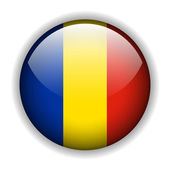 Flag of Romania button, vector — Stock Vector