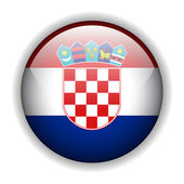 Flag of Croatia button, vector — Stock Vector