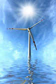Wind turbine, clean energy concept. — Stock Photo
