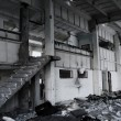 Stock Photo: Ruined building interior