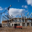 Building site of the Baltic Arena - Stock Photo