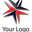 Logo abstract dynamic shape. — Vector de stock