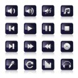Music icons set - Stock Vector