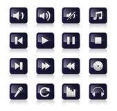 Muziek iconen set — Stockvector