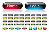 Web navigation buttons set — Stock Vector