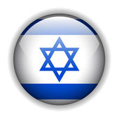 Israel flag button, vector — Stock Vector