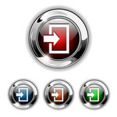 Entrez icône, bouton, illustration vectorielle. — Vecteur