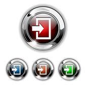 Voer pictogram, button, vectorillustratie. — Stockvector