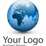 Logo globe, vector. — Stock Vector