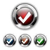 Accept icon, button., vector — Stock Vector