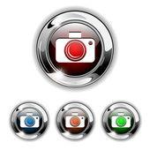 Photo icon, button, vector illustration. — Stock Vector