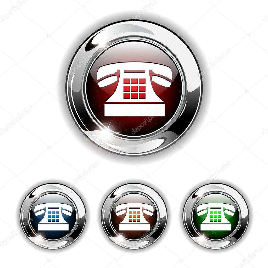 Телефон значок наушников - 018
