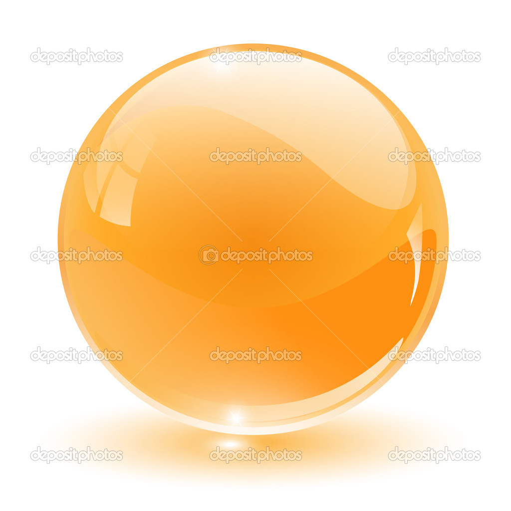 3D crystal, glass sphere, vector illustration. — Stock Vector #2559462