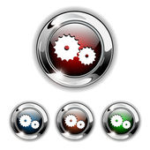 Gear icon, button, vector illustration. — Stock Vector