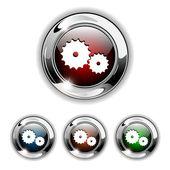 Gear icon, button, vector illustration. — Stock Vector