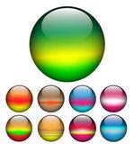 Glass ball; spheres vector. — Stock Vector