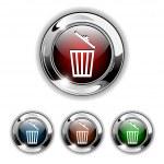 Delete icon, button, vector — Stock Vector #2612210