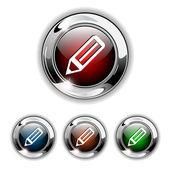 Pen icon, button, vector illustration. — Stock Vector