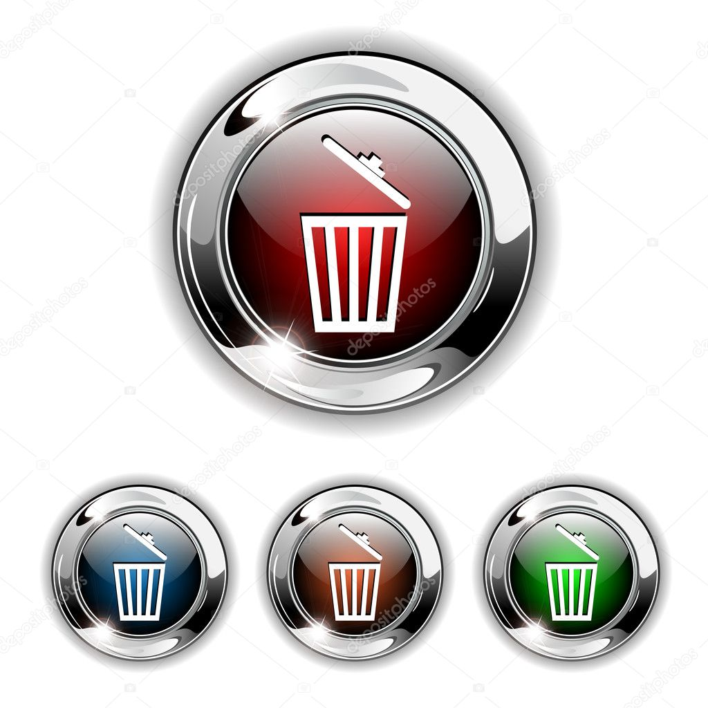 Delete icon button vector stock illustration