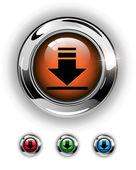 Télécharger l'icône, le bouton — Vecteur