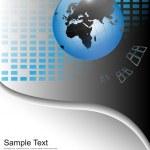 Fondo de negocios con globo del mundo — Vector de stock