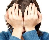 Donna triste — Foto Stock