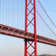 Stock Photo: Red bridge