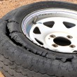 Stock Photo: Damaged tyre