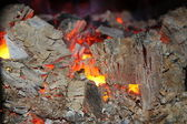 Burned;burnted coal — Stock Photo