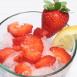 Strawberry crushed ice drink — Stockfoto
