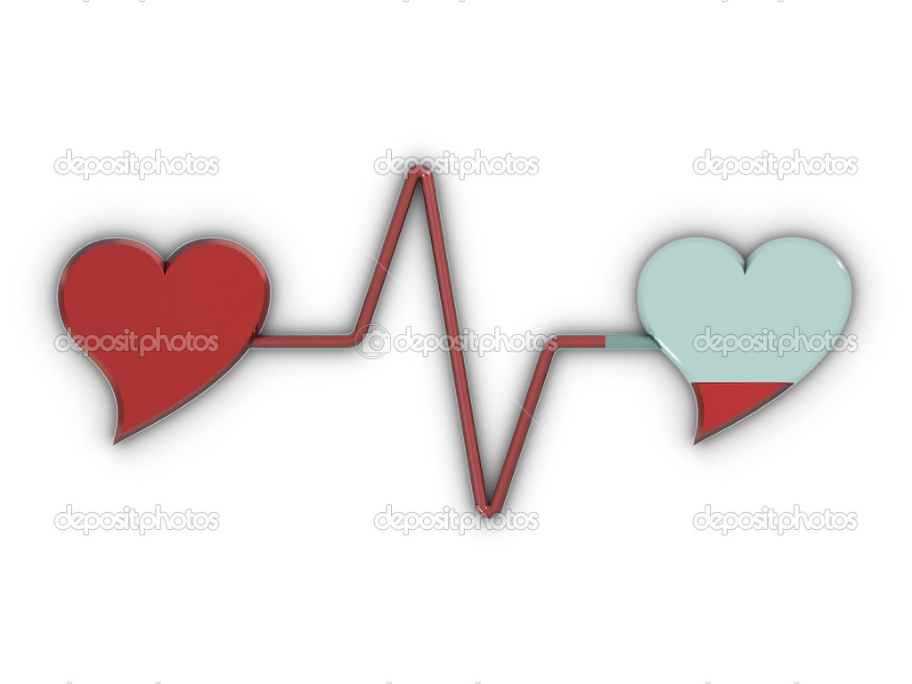 Blood transfusion with two hearts — Stock Photo #2073209