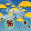 Percent in balloon - Stock Photo