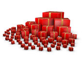 Red giftboxes — Stock Photo
