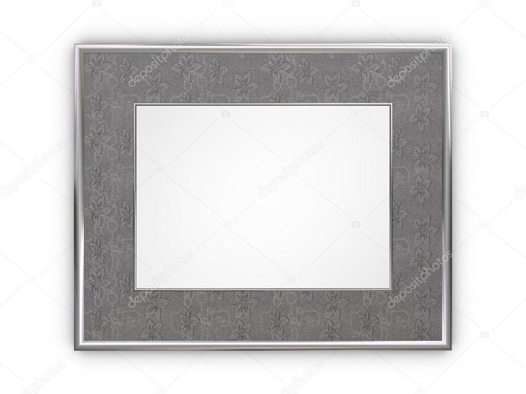 Luxury silver frame for photos  Stock Photo #2082102