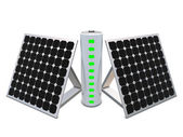 Battery with indicators and solar panels — 图库照片
