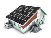 Modello di casa con blocco di polistirolo e s — Foto Stock