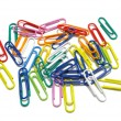 Royalty-Free Stock Photo: Multi-colored paper clips on white