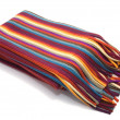 Stock Photo: Multicolored striped scarf