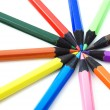Crayons on white — Stock Photo