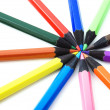 Stock Photo: Crayons on white