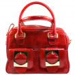 Red handbag — Stock Photo