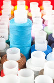 Spool with blue thread — Stock Photo