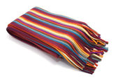 Multicolored striped scarf — Stock Photo