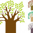 Tree Set — Vector de stock #1979360